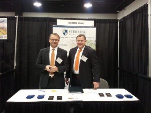 Danny Sellers & Garret Lazenby at the Sterling Risk Advisors Booth